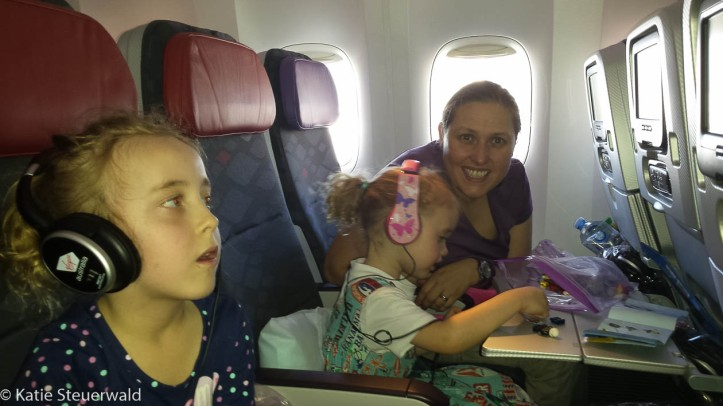 me and girls on plane