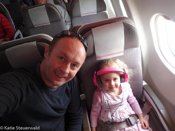 Pete and E on plane