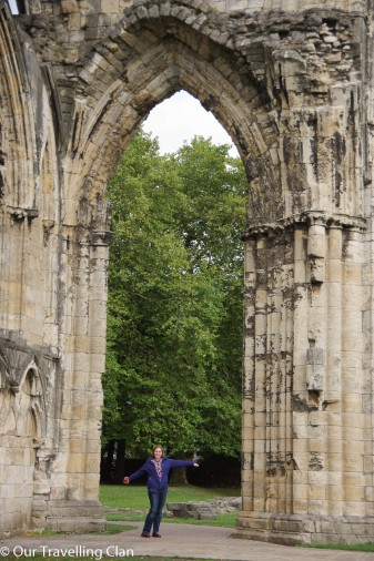 St Mary's Abbey York, England arch