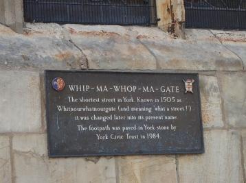 Whipmawhomagate sign York, England